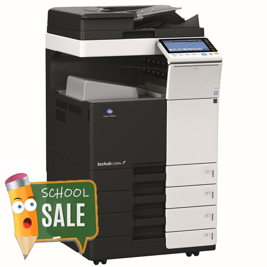 Konica Minolta Bizhub C284e DF-701 OT-506 PC-210 Colour Copier Printer Rental Price Offers