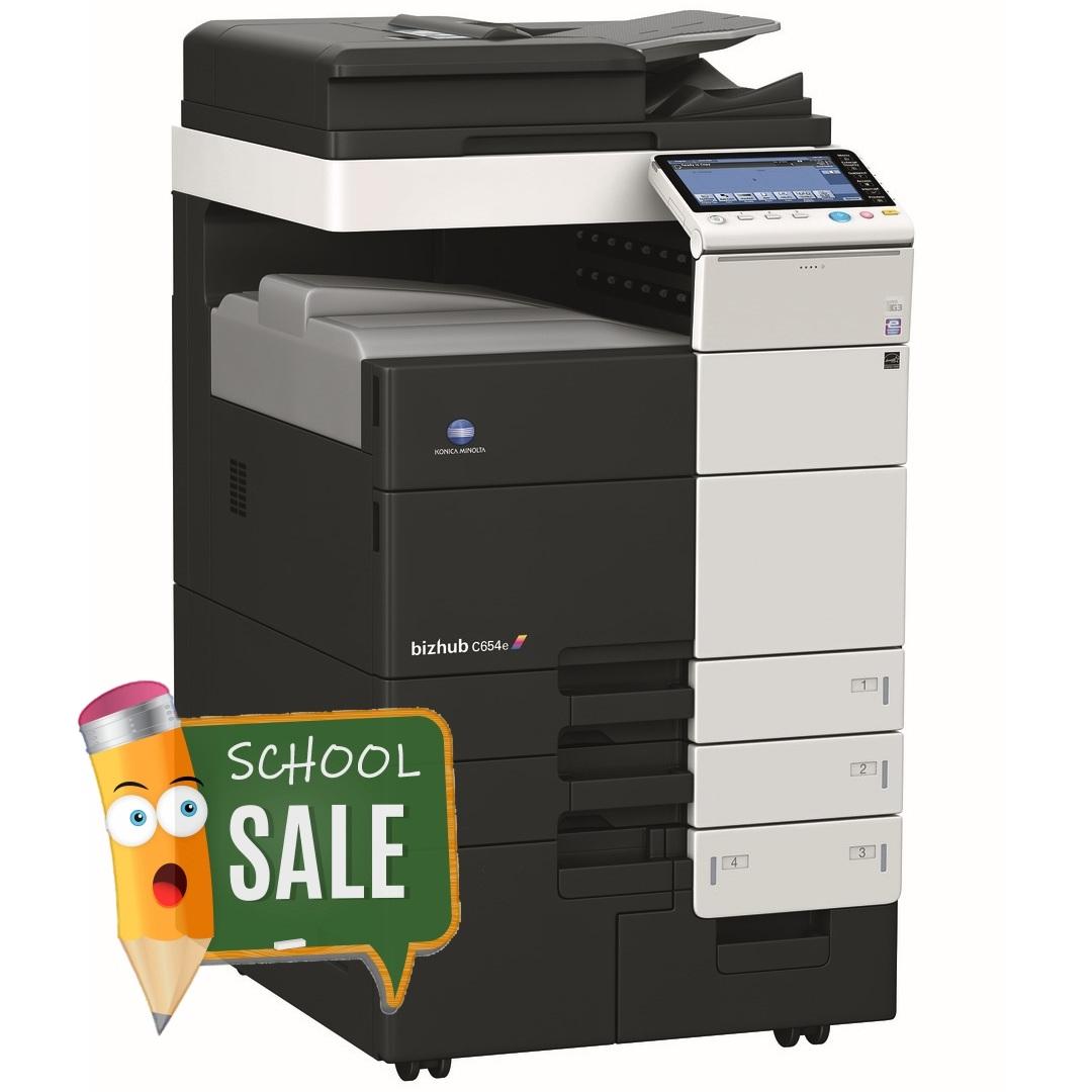 Konica Minolta Bizhub C654e Colour Copier Printer Rental Price Offers