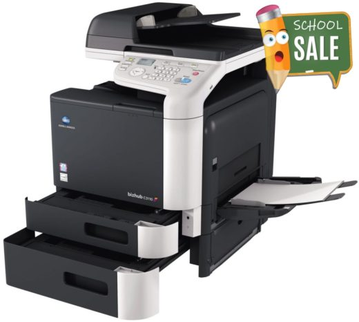 Konica Minolta Bizhub C3110 Colour Copier Printer Rental Price Offers Open Paper Trays
