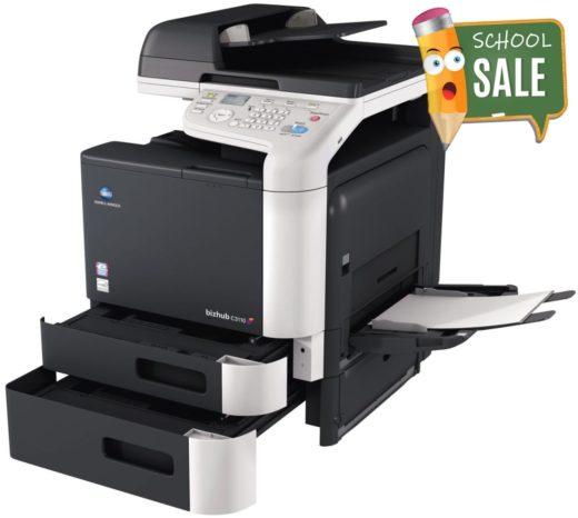 Konica Minolta Bizhub C3110 Colour Copier Printer Rental Price Offers Open Paper Trays