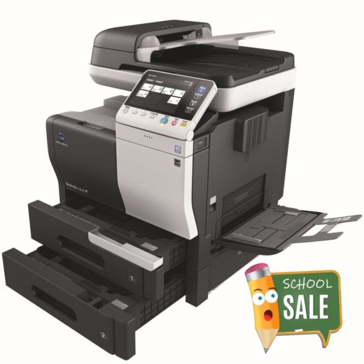 Konica Minolta Bizhub C3350 Colour Copier Printer Rental Price Offers Open Paper Trays Bypass