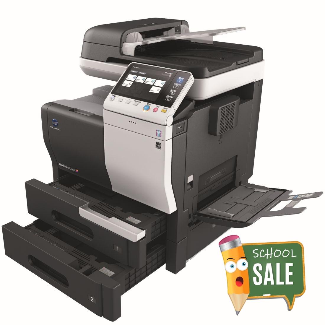 Konica Minolta Bizhub C3350 Colour Copier Printer Rental Price Offers Open Paper Trays Bypass