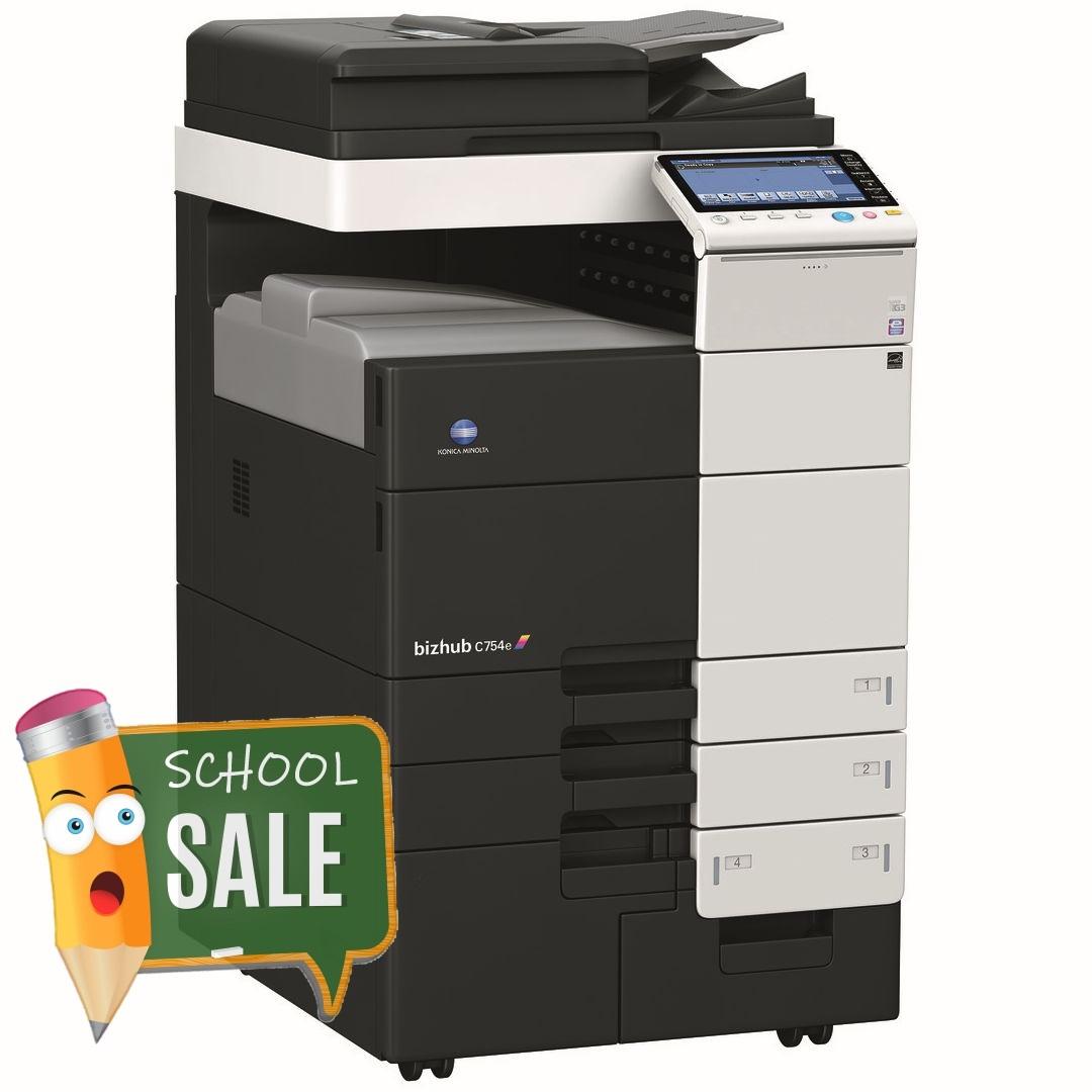 Konica Minolta Bizhub C754e Colour Copier Printer Rental Price Offers