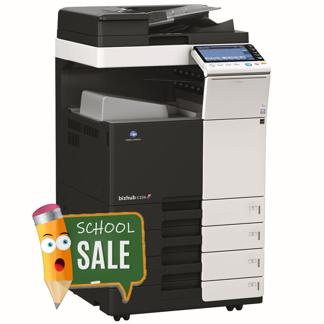 Konica Minolta Bizhub C224 DF-624 OT-506 PC-210 Colour Copier Printer Rental Price Offers