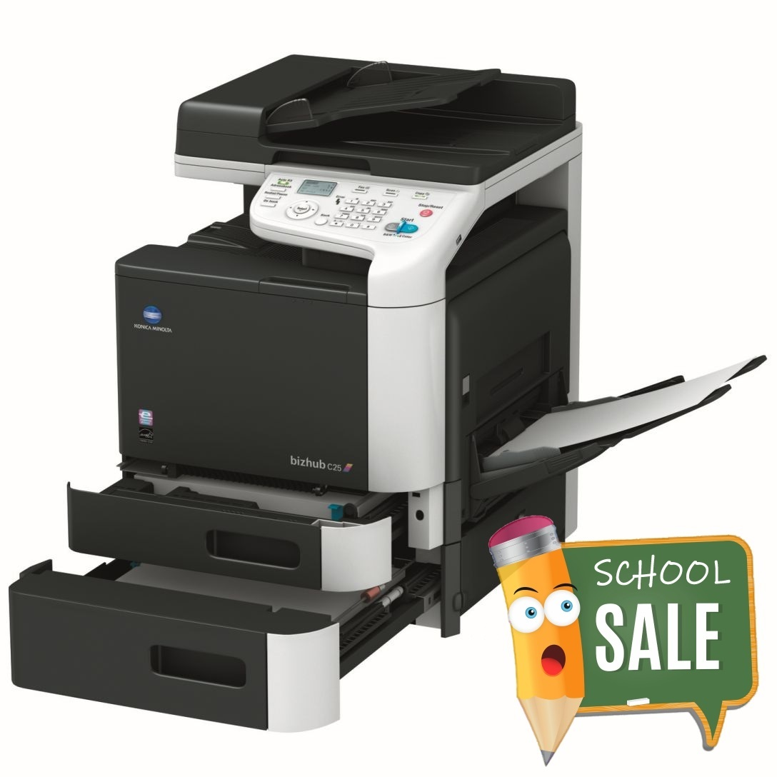Konica Minolta Bizhub C25 PT1 PT2 OT Colour Copier Printer Rental Price Offers OpenTray