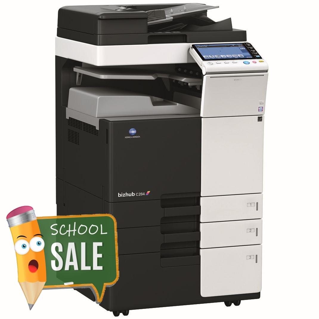 Konica Minolta Bizhub C284 DF-624 JS-506 PC-410 Colour Copier Printer Rental Price Offers