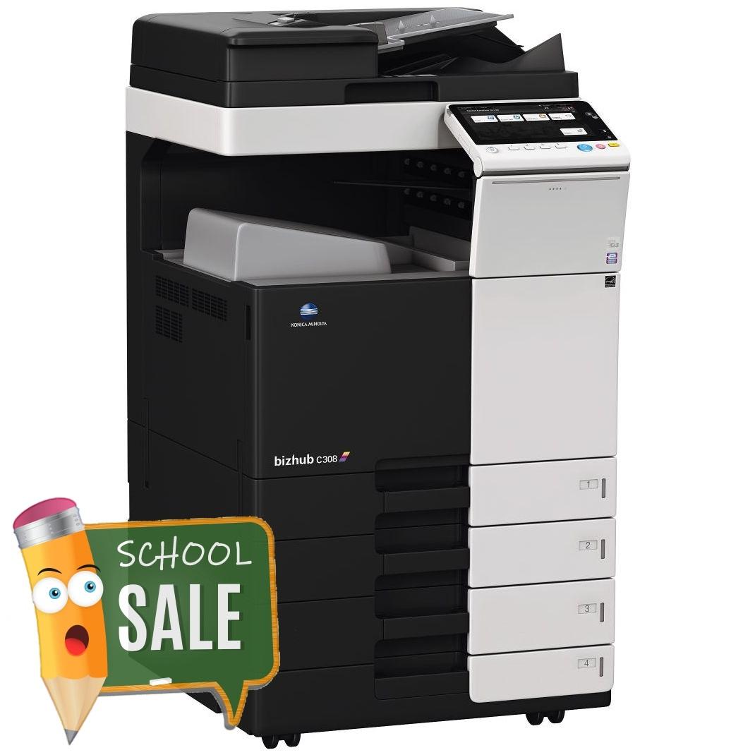 Konica Minolta Bizhub C308 DF 704 OT 506 PC 210 Colour Copier Printer Rental Price Offers