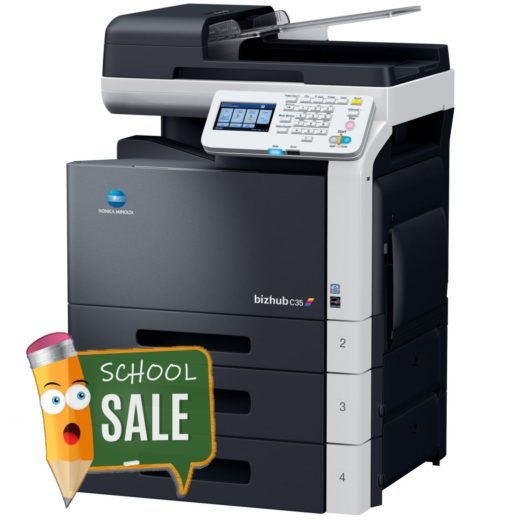 Konica Minolta Bizhub C35 Colour Copier Printer Rental Price Offers Right View