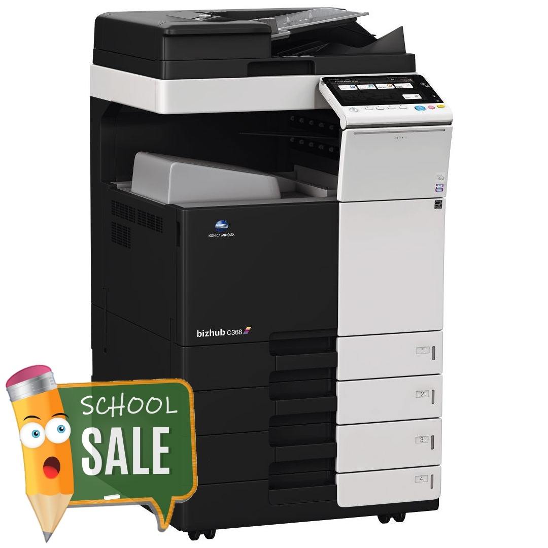 Konica Minolta Bizhub C368 DF 704 OT 506 PC 210 Colour Copier Printer Rental Price Offers