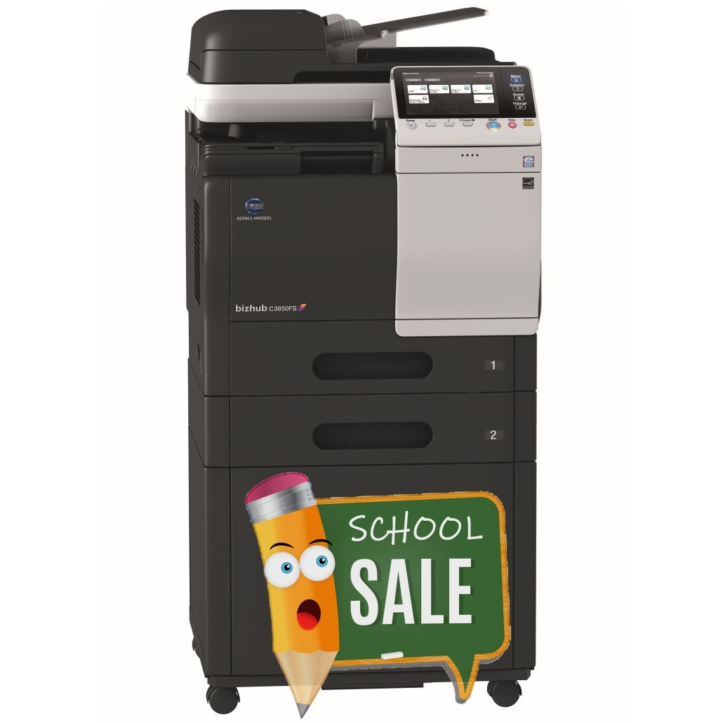 Konica Minolta Bizhub C3850FS FP 2x PF-P13 DK-P03 Colour Copier Printer Rental Price Offers