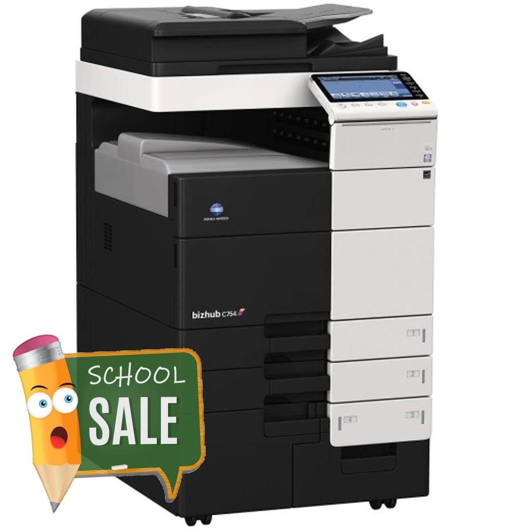 Konica Minolta Bizhub C754 Colour Copier Printer Rental Price Offers