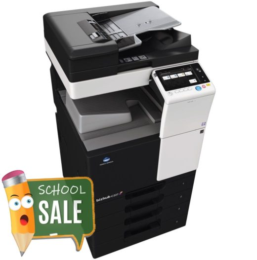 Konica Minolta Bizhub C227 DF-628 OT-506 PC-214 Colour Copier Printer Rental Price Offers Side