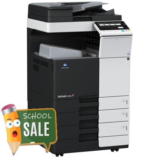 Konica Minolta Bizhub C258 DF 629 OT 506 PC 110 Colour Copier Printer Rental Price Offers