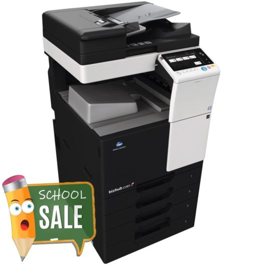 Konica Minolta Bizhub C287 DF 628 OT 506 PC 214 Colour Copier Printer Rental Price Offers