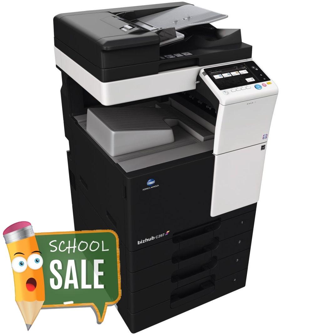 Konica Minolta Bizhub C287 DF 628 OT 506 PC 214 Colour Copier Printer Rental Price Offers