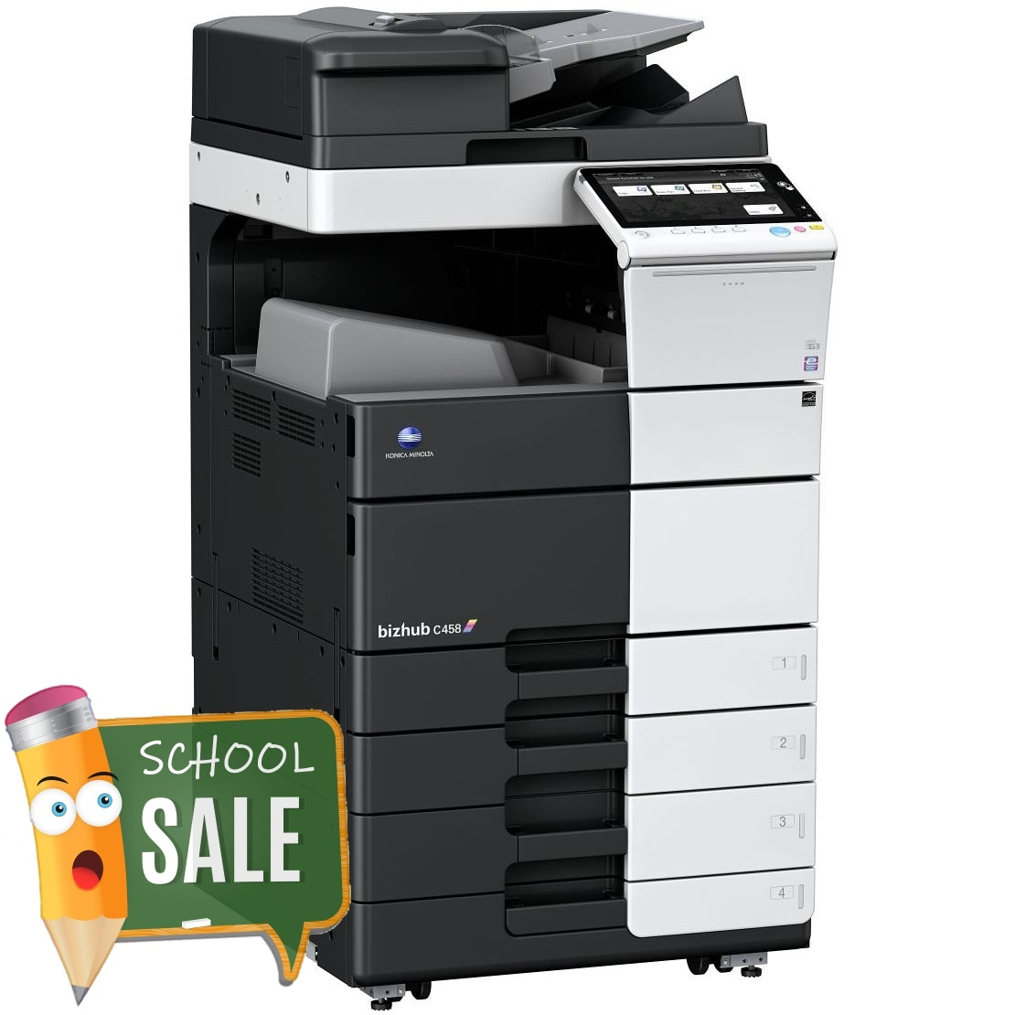Konica Minolta Bizhub C458 OT-506 PC-215 Colour Copier Printer Rental Price Offers