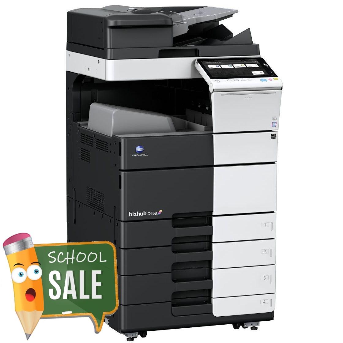 Konica Minolta Bizhub C658 OT 506 PC 215 Colour Copier Printer Rental Price Offers
