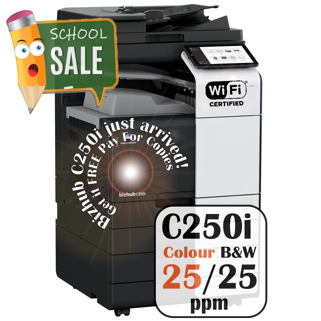 Konica Minolta Bizhub C250i DF 632 PC 216 JS 506 Colour Copier Printer Rental Price Offers