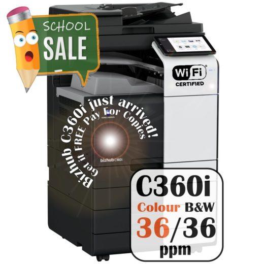 Konica Minolta Bizhub C360i DF 632 PC 216 JS 506 Colour Copier Printer Rental Price Offers