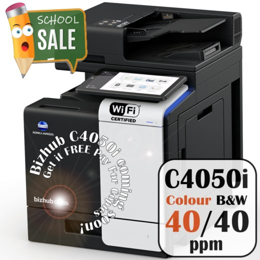 Konica Minolta Bizhub C4050i Colour Copier Printer Rental Price Offers