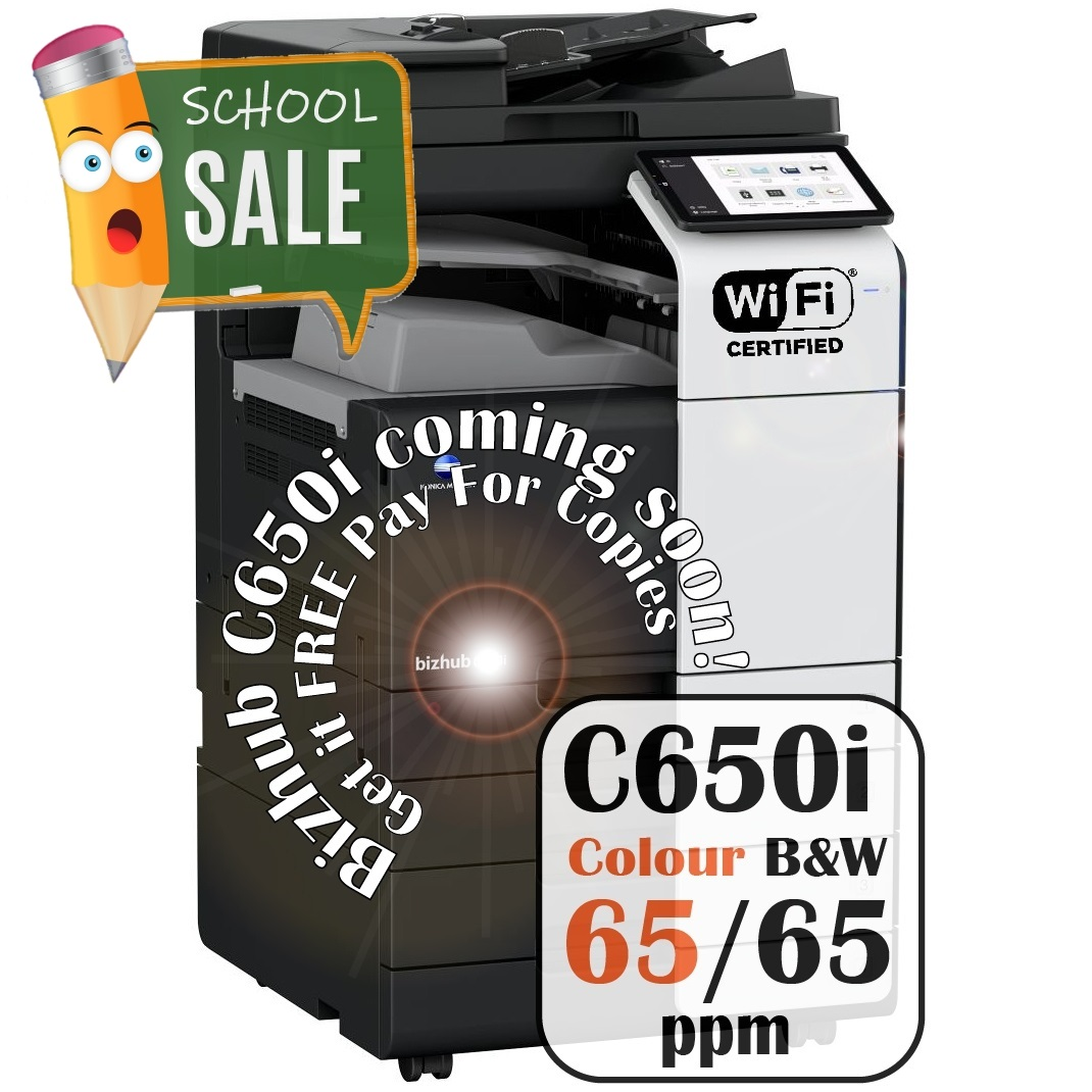 Konica Minolta Bizhub C650i DF 632 PC 216 JS 506 Colour Copier Printer Rental Price Offers