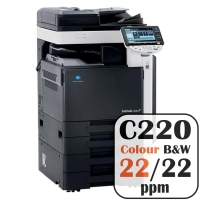 Konica Minolta Bizhub C220 Colour Copier Printer Rental Price Offers Frontpage