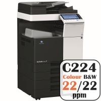 Konica Minolta Bizhub C224 Colour Copier Printer Rental Price Offers Frontpage