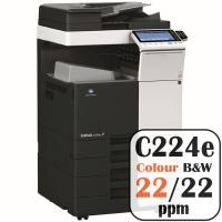 Konica Minolta Bizhub C224e Colour Copier Printer Rental Price Offers Frontpage