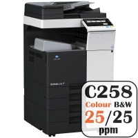 Konica Minolta Bizhub C258 Colour Copier Printer Rental Price Offers Frontpage