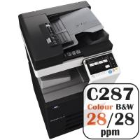 Konica Minolta Bizhub C287 Colour Copier Printer Rental Price Offers Frontpage