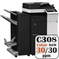 Konica Minolta Bizhub C308 Colour Copier Printer Rental Price Offers Frontpage