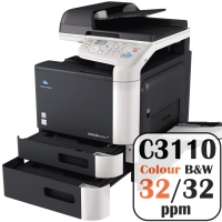 Konica Minolta Bizhub C3110 Colour Copier Printer Rental Price Offers Frontpage