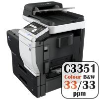 Konica Minolta Bizhub C3351 Colour Copier Printer Rental Price Offers Frontpage