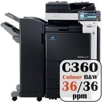 Konica Minolta Bizhub C360 Colour Copier Printer Rental Price Offers Frontpage
