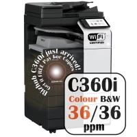 Konica Minolta Bizhub C360i Colour Copier Printer Rental Price Offers Frontpage