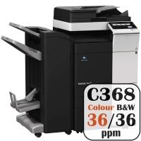 Konica Minolta Bizhub C368 Colour Copier Printer Rental Price Offers Frontpage