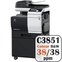 Konica Minolta Bizhub C3851 Colour Copier Printer Rental Price Offers Frontpage