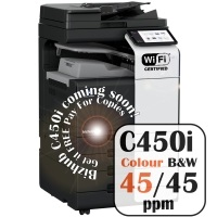 Konica Minolta Bizhub C450i Colour Copier Printer Rental Price Offers Frontpage