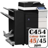 Konica Minolta Bizhub C454 Colour Copier Printer Rental Price Offers Frontpage