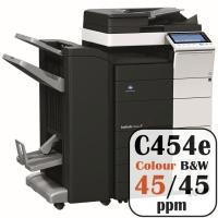 Konica Minolta Bizhub C454e Colour Copier Printer Rental Price Offers Frontpage