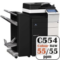 Konica Minolta Bizhub C554 Colour Copier Printer Rental Price Offers Frontpage