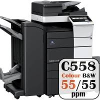 Konica Minolta Bizhub C558 Colour Copier Printer Rental Price Offers Frontpage