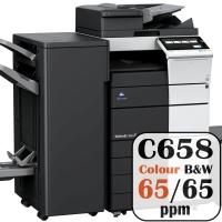 Konica Minolta Bizhub C658 Colour Copier Printer Rental Price Offers Frontpage