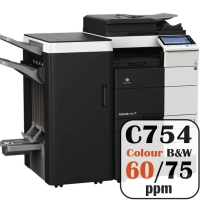 Konica Minolta Bizhub C754 Colour Copier Printer Rental Price Offers Frontpage