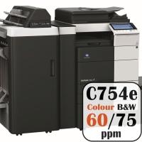 Konica Minolta Bizhub C754e Colour Copier Printer Rental Price Offers Frontpage