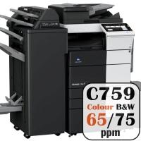 Konica Minolta Bizhub C759 Colour Copier Printer Rental Price Offers Frontpage